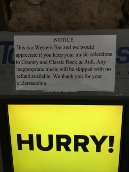 Love this sign at one of the bars in Tombstone.